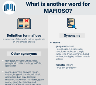 mafioso, synonym mafioso, another word for mafioso, words like mafioso, thesaurus mafioso