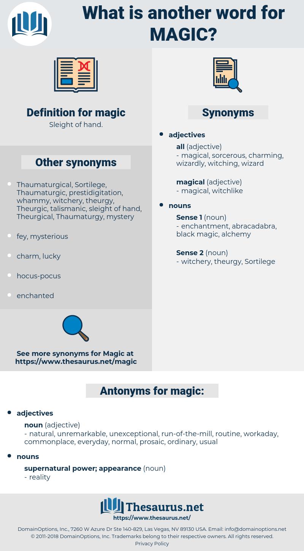 magic, synonym magic, another word for magic, words like magic, thesaurus magic