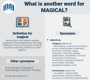 magical, synonym magical, another word for magical, words like magical, thesaurus magical