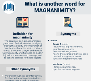 magnanimity, synonym magnanimity, another word for magnanimity, words like magnanimity, thesaurus magnanimity