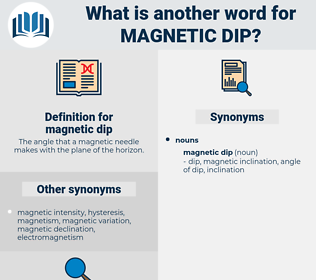magnetic dip, synonym magnetic dip, another word for magnetic dip, words like magnetic dip, thesaurus magnetic dip