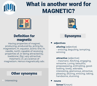 magnetic, synonym magnetic, another word for magnetic, words like magnetic, thesaurus magnetic