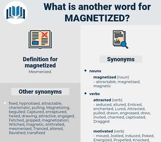 magnetized, synonym magnetized, another word for magnetized, words like magnetized, thesaurus magnetized
