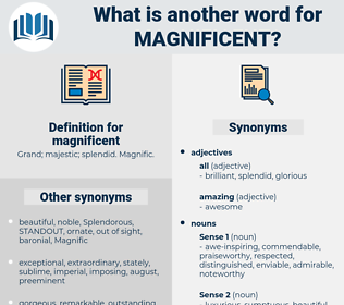 magnificent, synonym magnificent, another word for magnificent, words like magnificent, thesaurus magnificent