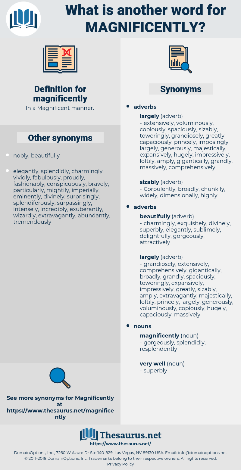 magnificently, synonym magnificently, another word for magnificently, words like magnificently, thesaurus magnificently