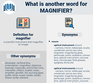 magnifier, synonym magnifier, another word for magnifier, words like magnifier, thesaurus magnifier