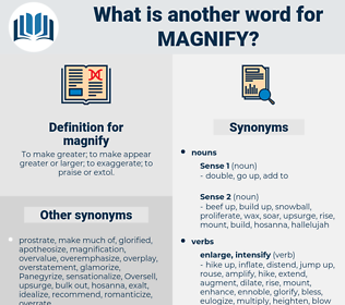 magnify, synonym magnify, another word for magnify, words like magnify, thesaurus magnify