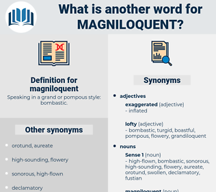 magniloquent, synonym magniloquent, another word for magniloquent, words like magniloquent, thesaurus magniloquent
