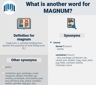 magnum, synonym magnum, another word for magnum, words like magnum, thesaurus magnum