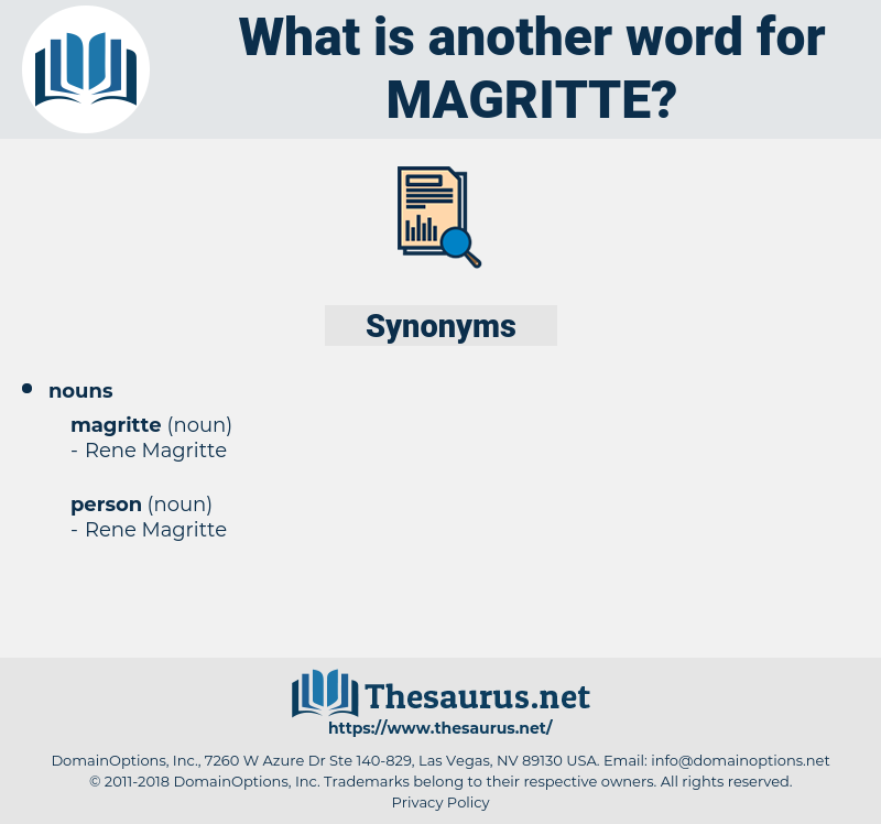 magritte, synonym magritte, another word for magritte, words like magritte, thesaurus magritte