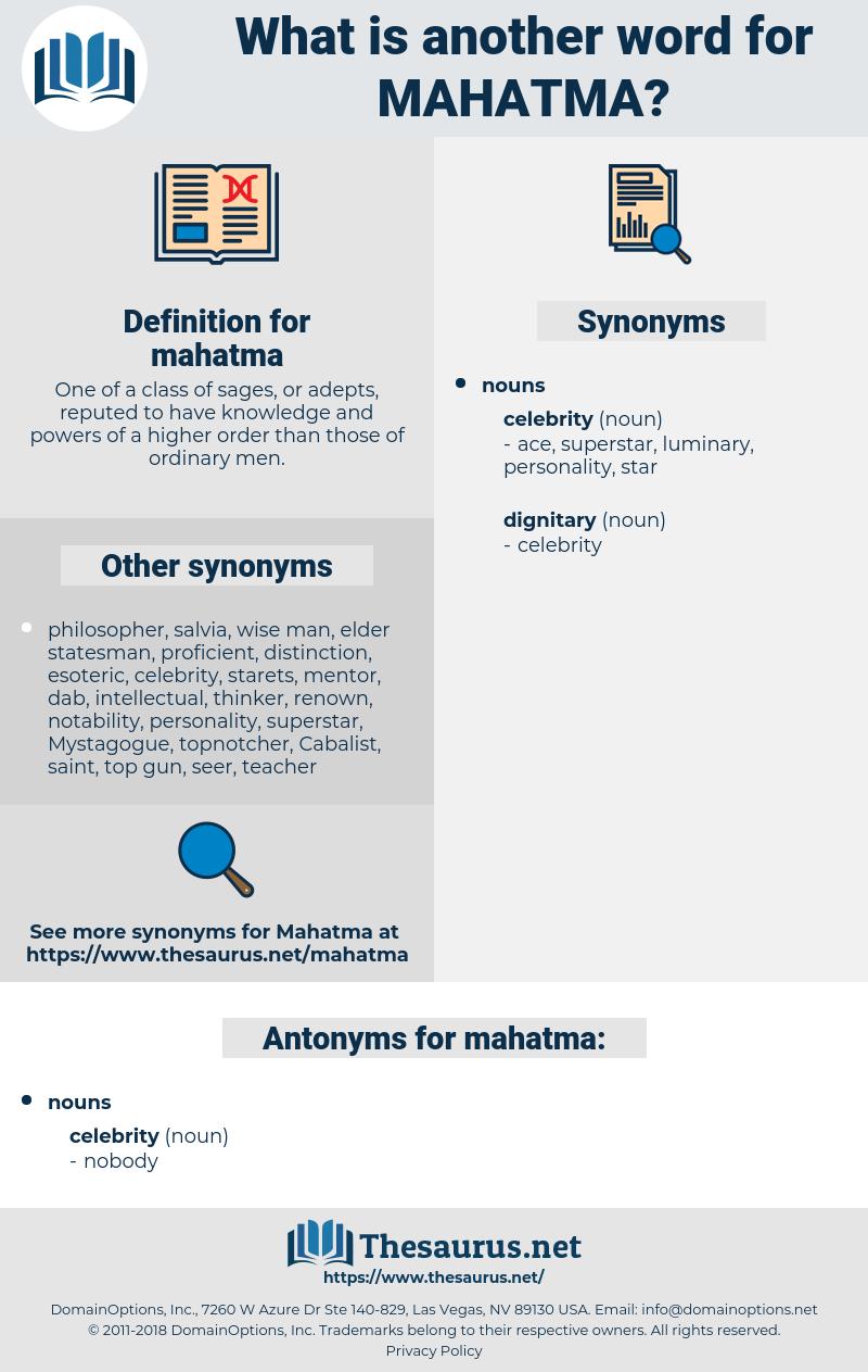 mahatma, synonym mahatma, another word for mahatma, words like mahatma, thesaurus mahatma