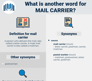 mail carrier, synonym mail carrier, another word for mail carrier, words like mail carrier, thesaurus mail carrier