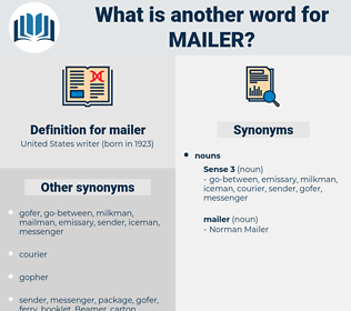 mailer, synonym mailer, another word for mailer, words like mailer, thesaurus mailer