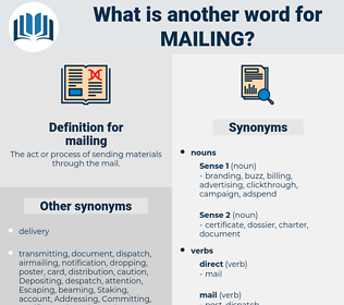 mailing, synonym mailing, another word for mailing, words like mailing, thesaurus mailing