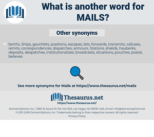 Mails, synonym Mails, another word for Mails, words like Mails, thesaurus Mails