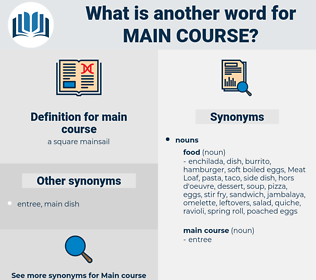 main course, synonym main course, another word for main course, words like main course, thesaurus main course