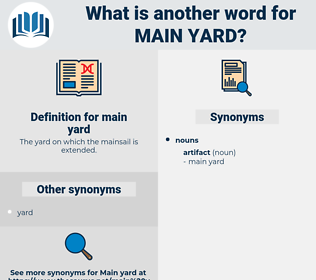 main yard, synonym main yard, another word for main yard, words like main yard, thesaurus main yard