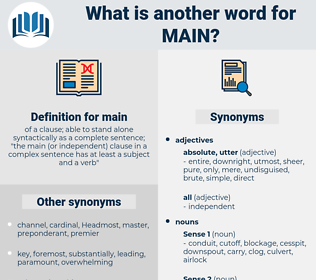 main, synonym main, another word for main, words like main, thesaurus main
