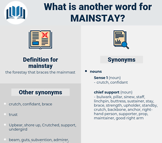 mainstay, synonym mainstay, another word for mainstay, words like mainstay, thesaurus mainstay