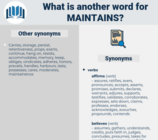 maintains, synonym maintains, another word for maintains, words like maintains, thesaurus maintains