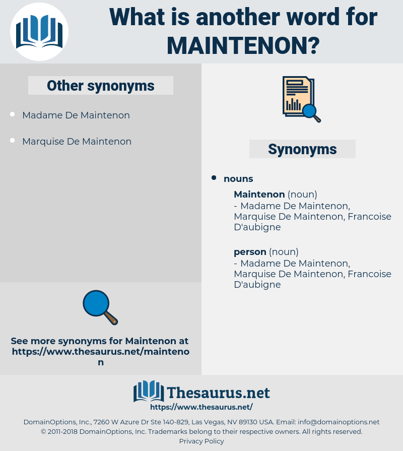 maintenon, synonym maintenon, another word for maintenon, words like maintenon, thesaurus maintenon