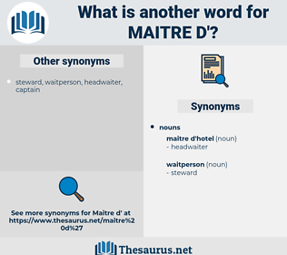 maitre d', synonym maitre d', another word for maitre d', words like maitre d', thesaurus maitre d'