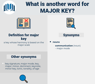 major key, synonym major key, another word for major key, words like major key, thesaurus major key
