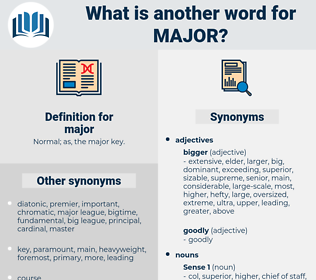 major, synonym major, another word for major, words like major, thesaurus major