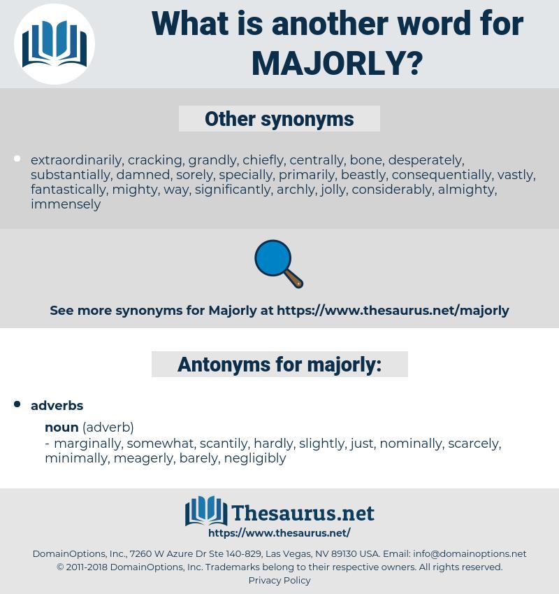 majorly, synonym majorly, another word for majorly, words like majorly, thesaurus majorly