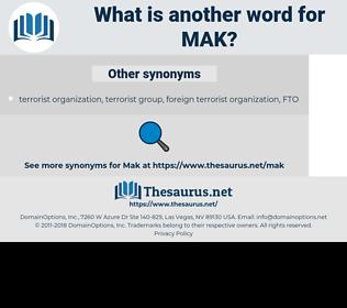 MAK, synonym MAK, another word for MAK, words like MAK, thesaurus MAK