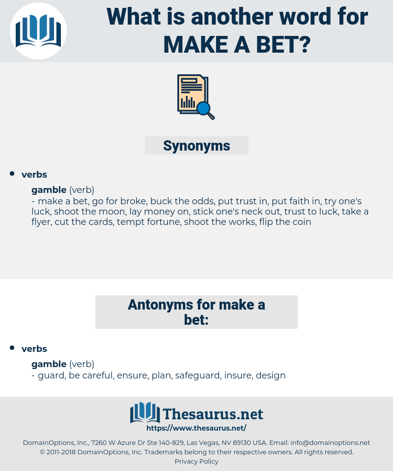 make a bet, synonym make a bet, another word for make a bet, words like make a bet, thesaurus make a bet