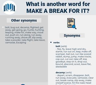 make a break for it, synonym make a break for it, another word for make a break for it, words like make a break for it, thesaurus make a break for it