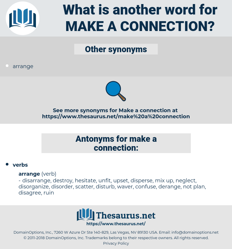 make a connection, synonym make a connection, another word for make a connection, words like make a connection, thesaurus make a connection