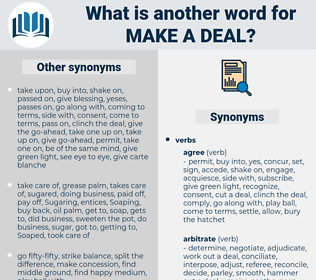 make a deal, synonym make a deal, another word for make a deal, words like make a deal, thesaurus make a deal