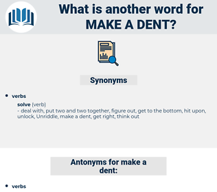 make a dent, synonym make a dent, another word for make a dent, words like make a dent, thesaurus make a dent