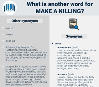 make a killing, synonym make a killing, another word for make a killing, words like make a killing, thesaurus make a killing