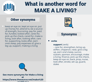 make a living, synonym make a living, another word for make a living, words like make a living, thesaurus make a living