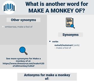 make a monkey of, synonym make a monkey of, another word for make a monkey of, words like make a monkey of, thesaurus make a monkey of