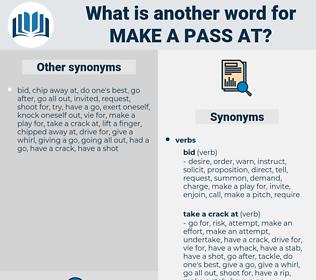 make a pass at, synonym make a pass at, another word for make a pass at, words like make a pass at, thesaurus make a pass at