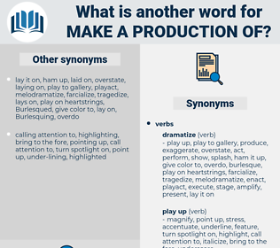 make a production of, synonym make a production of, another word for make a production of, words like make a production of, thesaurus make a production of
