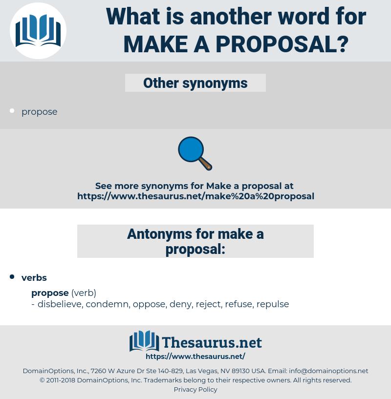 make a proposal, synonym make a proposal, another word for make a proposal, words like make a proposal, thesaurus make a proposal