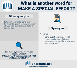 make a special effort, synonym make a special effort, another word for make a special effort, words like make a special effort, thesaurus make a special effort