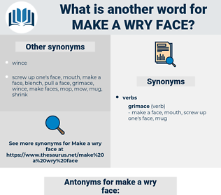 make a wry face, synonym make a wry face, another word for make a wry face, words like make a wry face, thesaurus make a wry face