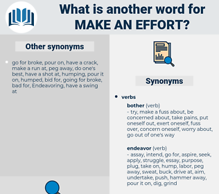 make an effort, synonym make an effort, another word for make an effort, words like make an effort, thesaurus make an effort