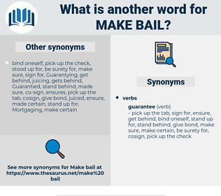 make bail, synonym make bail, another word for make bail, words like make bail, thesaurus make bail