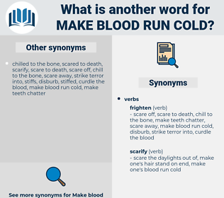 make blood run cold, synonym make blood run cold, another word for make blood run cold, words like make blood run cold, thesaurus make blood run cold