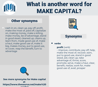 make capital, synonym make capital, another word for make capital, words like make capital, thesaurus make capital