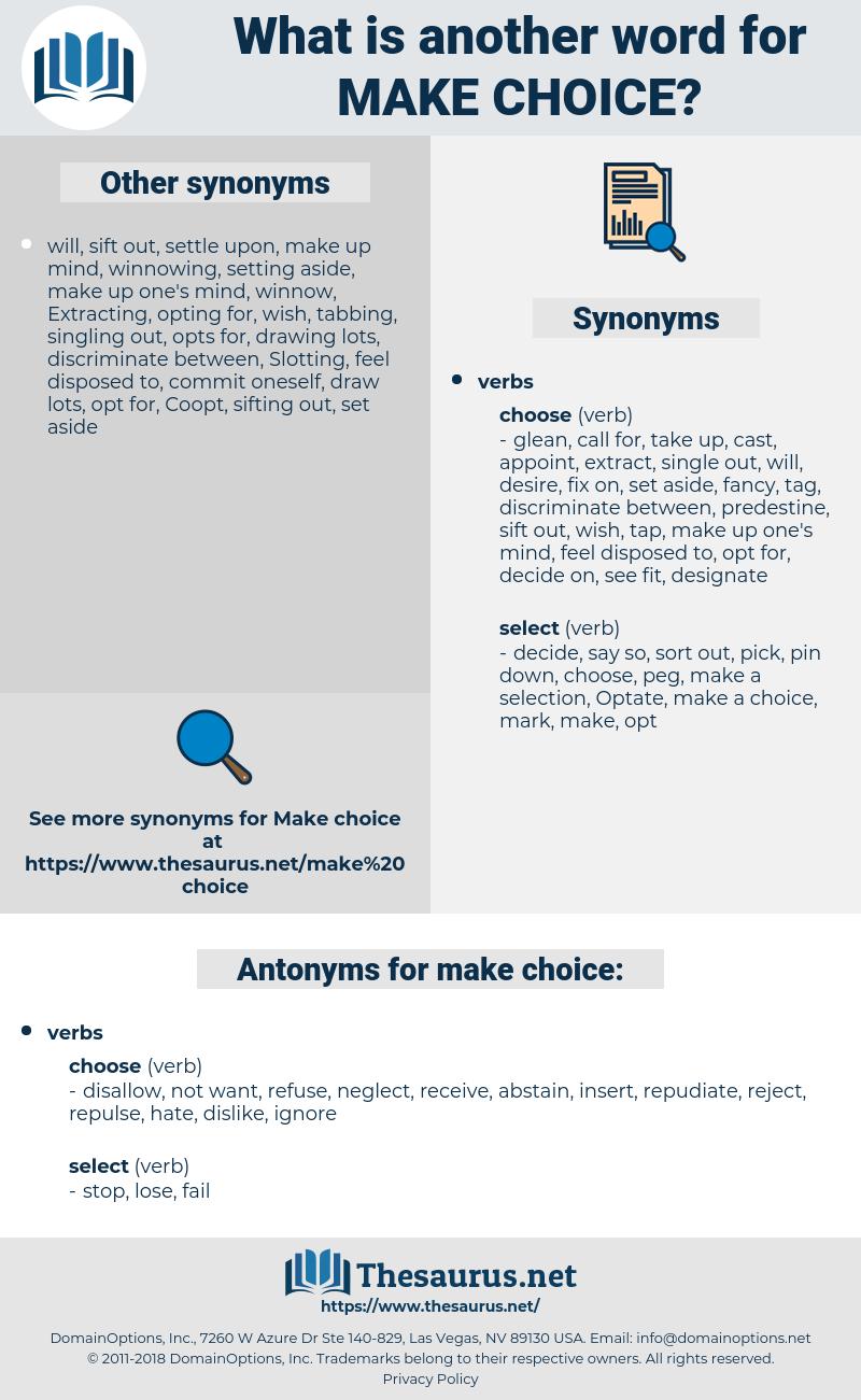 make choice, synonym make choice, another word for make choice, words like make choice, thesaurus make choice
