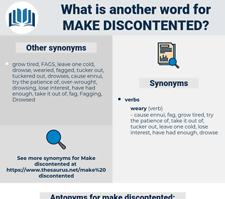make discontented, synonym make discontented, another word for make discontented, words like make discontented, thesaurus make discontented