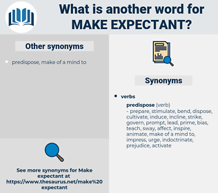 make expectant, synonym make expectant, another word for make expectant, words like make expectant, thesaurus make expectant
